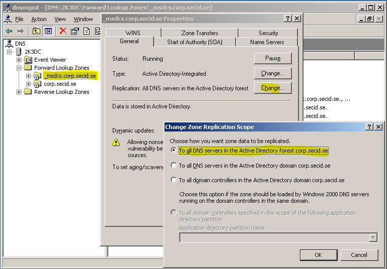Application partition
