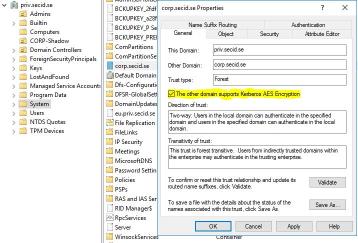 How Shadow Principals works in Active Directory 2016